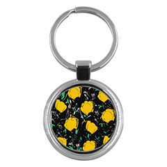 Yellow Roses 2 Key Chains (round)  by Valentinaart