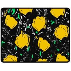 Yellow Roses 2 Fleece Blanket (medium)  by Valentinaart