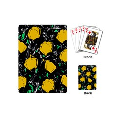 Yellow Roses 2 Playing Cards (mini)  by Valentinaart