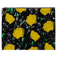 Yellow Roses 2 Cosmetic Bag (xxxl)  by Valentinaart