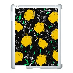 Yellow Roses 2 Apple Ipad 3/4 Case (white) by Valentinaart
