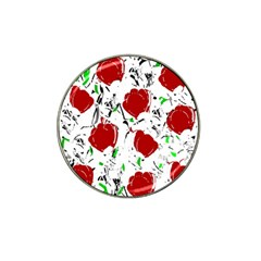 Red Roses 2 Hat Clip Ball Marker by Valentinaart