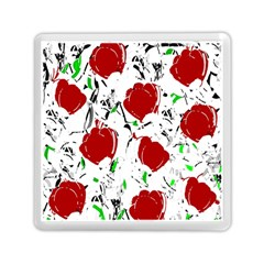 Red roses 2 Memory Card Reader (Square)  by Valentinaart