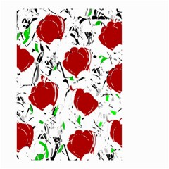 Red Roses 2 Small Garden Flag (two Sides) by Valentinaart