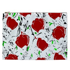 Red Roses 2 Cosmetic Bag (xxl)  by Valentinaart