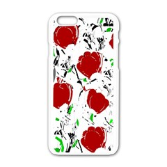Red Roses 2 Apple Iphone 6/6s White Enamel Case by Valentinaart