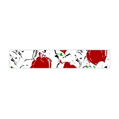 Red roses 2 Flano Scarf (Mini) by Valentinaart