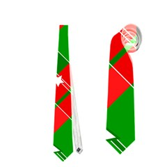 Background Abstract Christmas Neckties (Two Side)  by Zeze