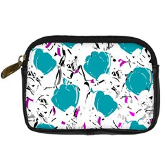 Cyan Roses Digital Camera Cases by Valentinaart