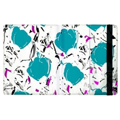 Cyan Roses Apple Ipad 3/4 Flip Case by Valentinaart