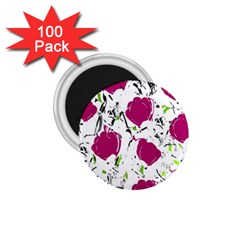 Magenta Roses 1 75  Magnets (100 Pack)  by Valentinaart