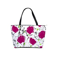 Magenta Roses Shoulder Handbags by Valentinaart