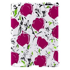 Magenta Roses Apple Ipad 3/4 Hardshell Case (compatible With Smart Cover) by Valentinaart