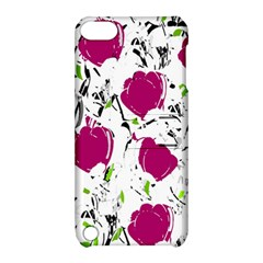 Magenta Roses Apple Ipod Touch 5 Hardshell Case With Stand by Valentinaart