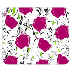 Magenta Roses Double Sided Flano Blanket (small)  by Valentinaart