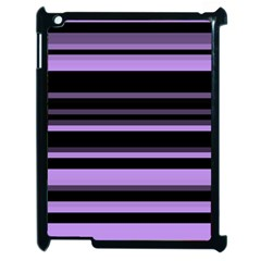 Lavender Stripes Apple Ipad 2 Case (black) by KirstenStar