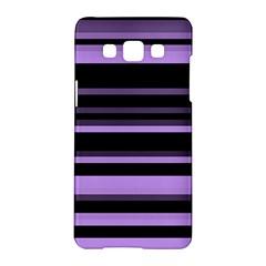 Lavender Stripes Samsung Galaxy A5 Hardshell Case  by KirstenStar