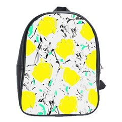 Yellow Roses 2 School Bags(large)  by Valentinaart