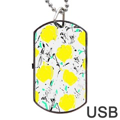 Yellow Roses 2 Dog Tag Usb Flash (two Sides)  by Valentinaart