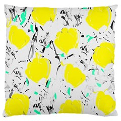Yellow Roses 2 Large Cushion Case (one Side)