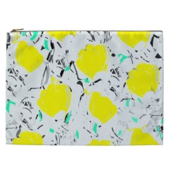 Yellow Roses 2 Cosmetic Bag (xxl)  by Valentinaart