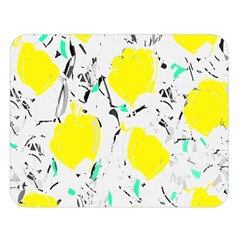 Yellow Roses 2 Double Sided Flano Blanket (large)  by Valentinaart