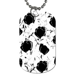 Black Roses Dog Tag (two Sides) by Valentinaart