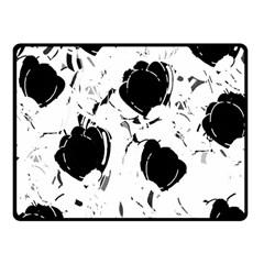 Black Roses Fleece Blanket (small) by Valentinaart