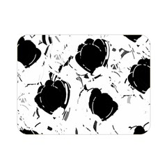 Black Roses Double Sided Flano Blanket (mini)  by Valentinaart