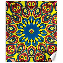 Yellow Flower Mandala Canvas 20  X 24   by designworld65