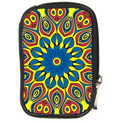 Yellow Flower Mandala Compact Camera Cases by designworld65
