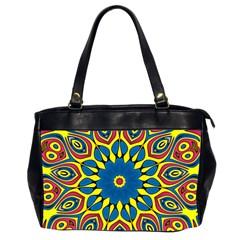 Yellow Flower Mandala Office Handbags (2 Sides)  by designworld65
