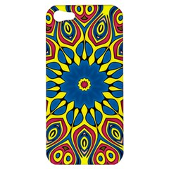 Yellow Flower Mandala Apple Iphone 5 Hardshell Case by designworld65