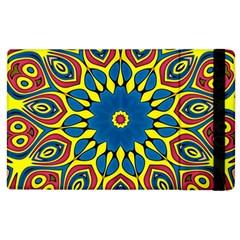 Yellow Flower Mandala Apple Ipad 2 Flip Case by designworld65