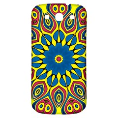 Yellow Flower Mandala Samsung Galaxy S3 S Iii Classic Hardshell Back Case by designworld65