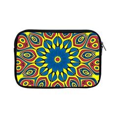 Yellow Flower Mandala Apple Ipad Mini Zipper Cases by designworld65