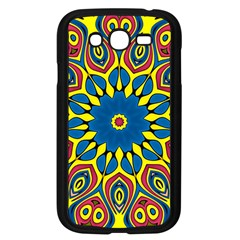 Yellow Flower Mandala Samsung Galaxy Grand Duos I9082 Case (black) by designworld65