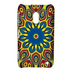 Yellow Flower Mandala Nokia Lumia 620 by designworld65