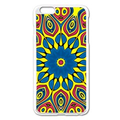 Yellow Flower Mandala Apple Iphone 6 Plus/6s Plus Enamel White Case by designworld65
