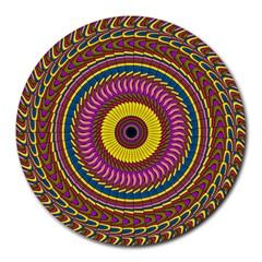Ornament Mandala Round Mousepads by designworld65