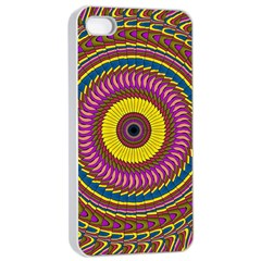 Ornament Mandala Apple Iphone 4/4s Seamless Case (white) by designworld65