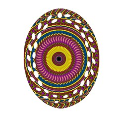 Ornament Mandala Ornament (oval Filigree)  by designworld65