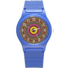 Ornament Mandala Round Plastic Sport Watch (s) by designworld65