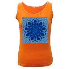 Blue Blossom Mandala Women s Dark Tank Top by designworld65