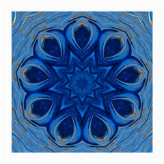 Blue Blossom Mandala Medium Glasses Cloth (2 Side) by designworld65