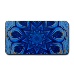 Blue Blossom Mandala Medium Bar Mats by designworld65
