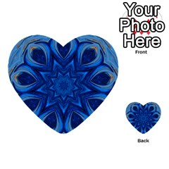 Blue Blossom Mandala Multi Purpose Cards (heart)