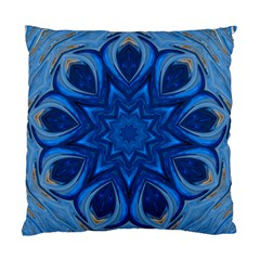 Blue Blossom Mandala Standard Cushion Case (one Side) by designworld65