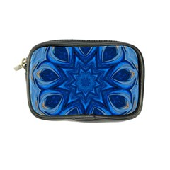 Blue Blossom Mandala Coin Purse by designworld65