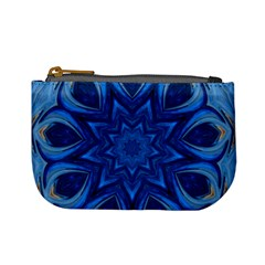 Blue Blossom Mandala Mini Coin Purses by designworld65